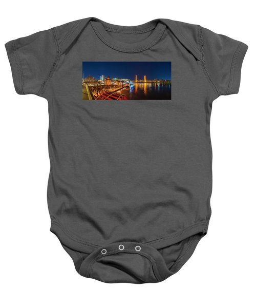 Old Sacramento Panorama Baby Onesie