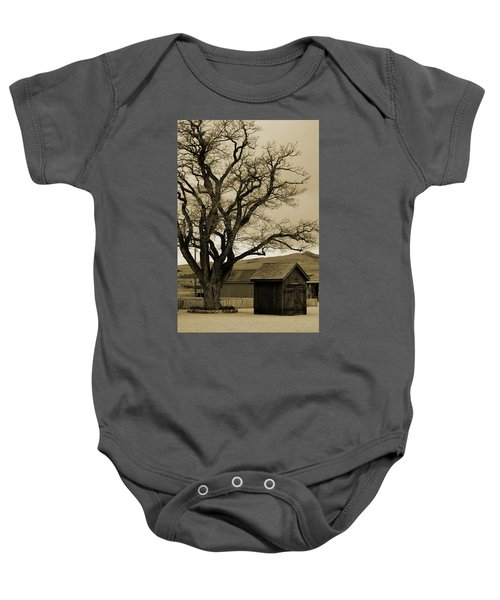 Old Shanty In Sepia Baby Onesie