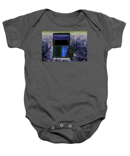 Old Window 2 Baby Onesie