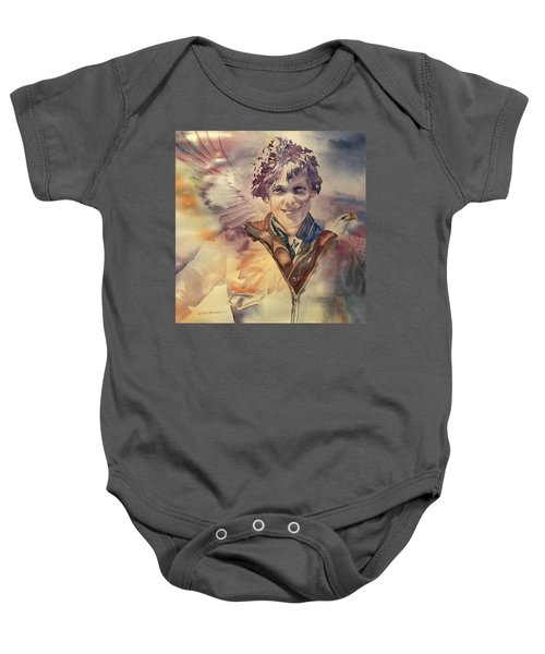 On Eagles Wings Baby Onesie