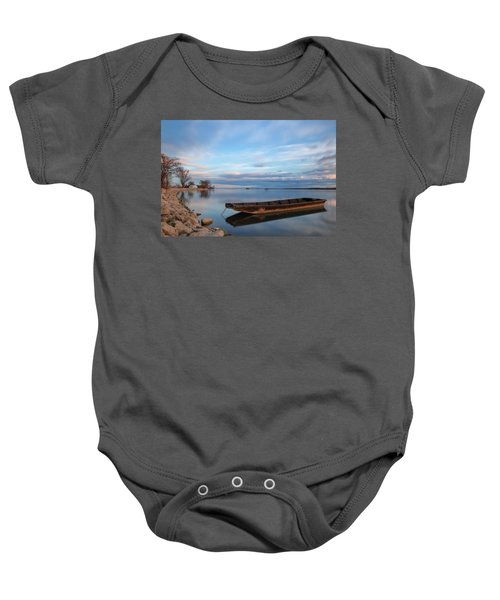 On The Shore Of The Lake Baby Onesie