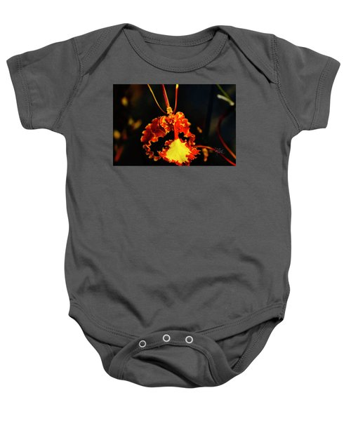 Orchid Study Four Baby Onesie