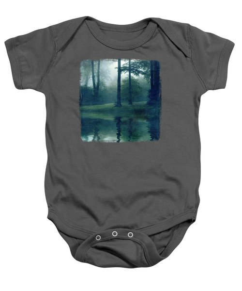 Out Of Reach - Forest Reflection Baby Onesie