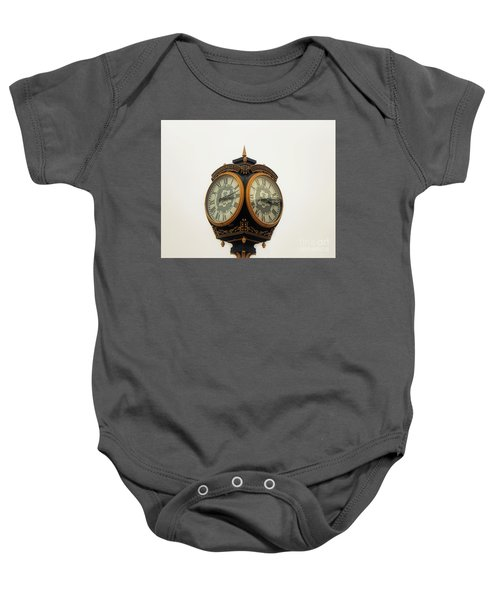 Outside Timepiece Baby Onesie