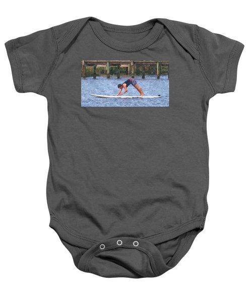 Paddleboard Yoga 2 Baby Onesie
