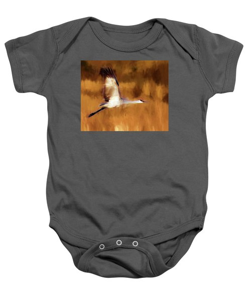 Painterly Crane Baby Onesie