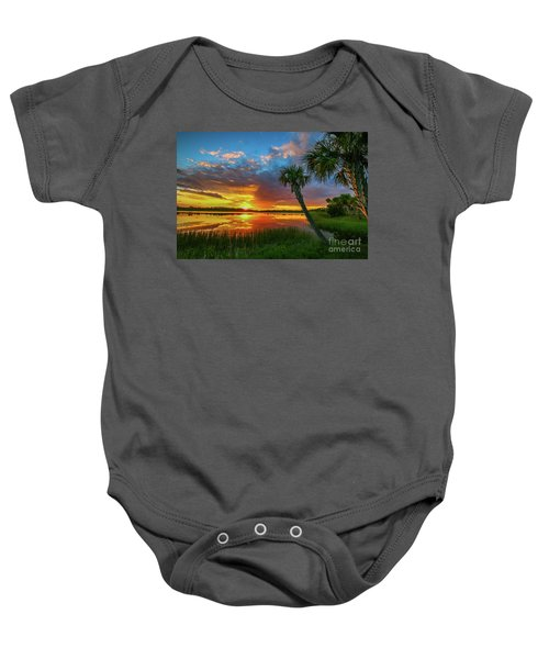Palm Tree Sunset Baby Onesie