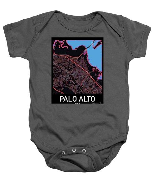 Palo Alto City Map Baby Onesie
