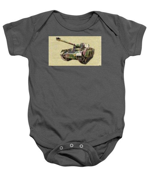 Panzer Iv Canvas Baby Onesie