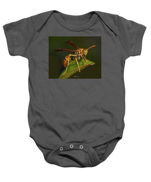 Paper Wasp Baby Onesie