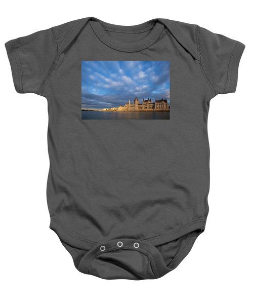 Parliament On The Danube Baby Onesie