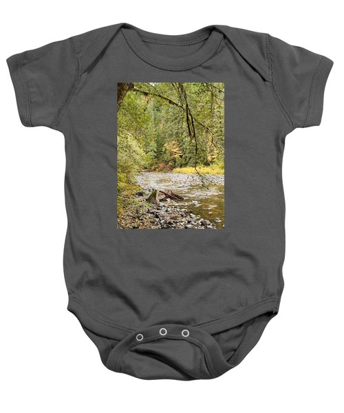 Peaceful Molalla River Baby Onesie