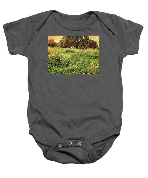 Peaceful Pastoral Perspective Baby Onesie