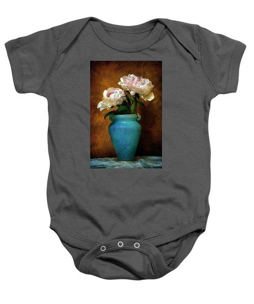 Peonies In Spring Baby Onesie