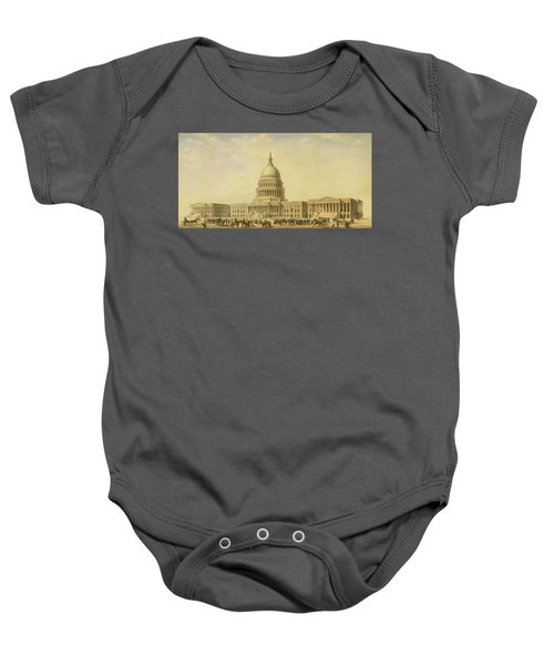 Perspective Rendering Of United States Capitol Baby Onesie