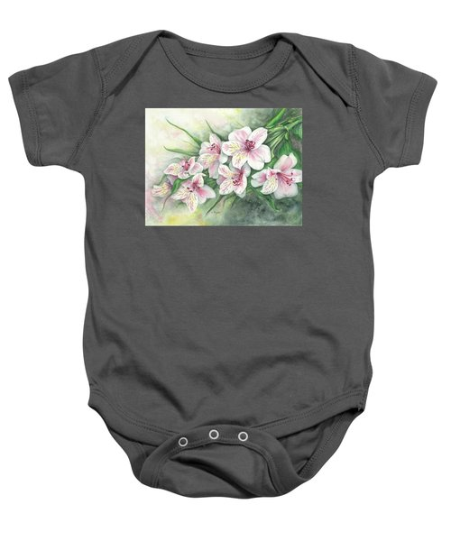 Peruvian Lilies Baby Onesie