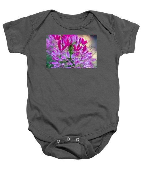 Pink Queen Flower Baby Onesie