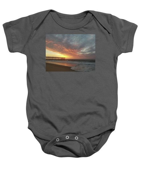 Pink Rippling Clouds At Sunrise Baby Onesie