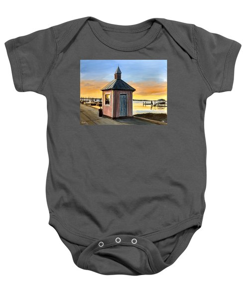 Pink Shed Baby Onesie