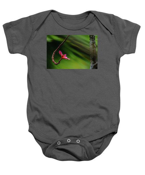 Baby Onesie featuring the photograph Plumeria Looking Up by John Bauer