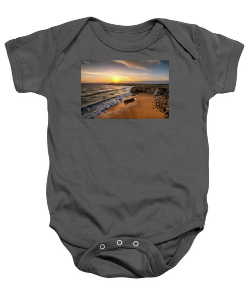 Pointe Du Percho And Port Blanc Baby Onesie