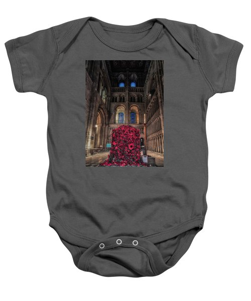 Poppy Display At Ely Cathedral Baby Onesie