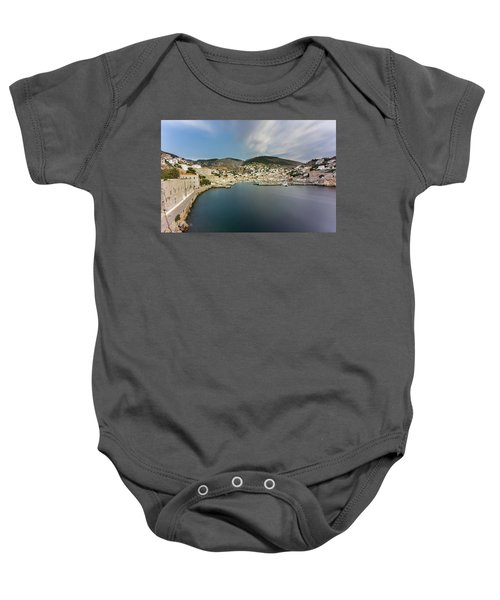 Port At Hydra Island Baby Onesie