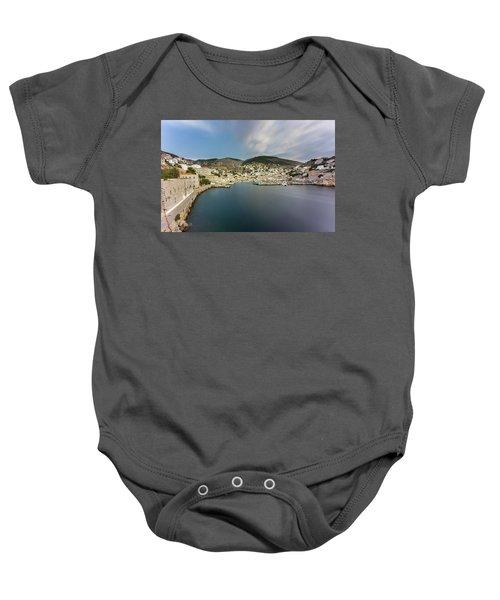 Port At Hydra Island Baby Onesie