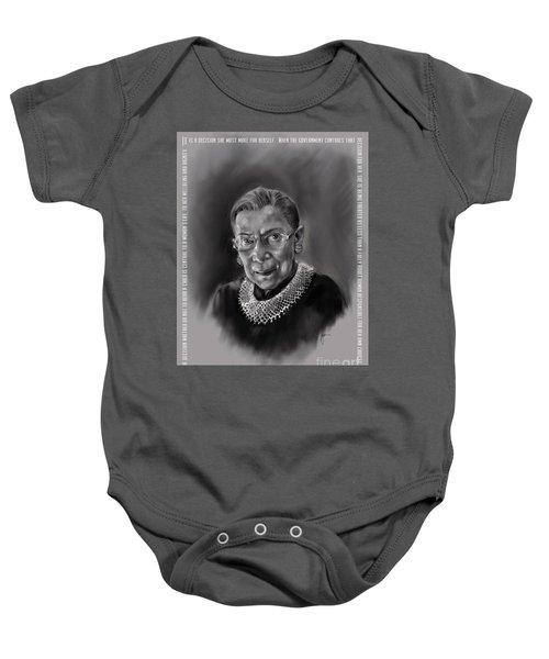 Portrait Of Ruth Bader Ginsburg Baby Onesie