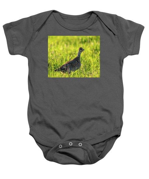 Prairie Chicken Hen Baby Onesie