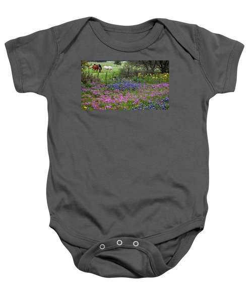Bluebonnets And Pure Texas  Baby Onesie