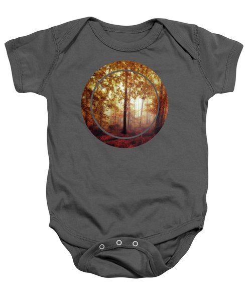 Rain Whispers - Misty Fall Forest Baby Onesie