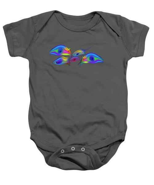 Rainbow Blue Fish Baby Onesie