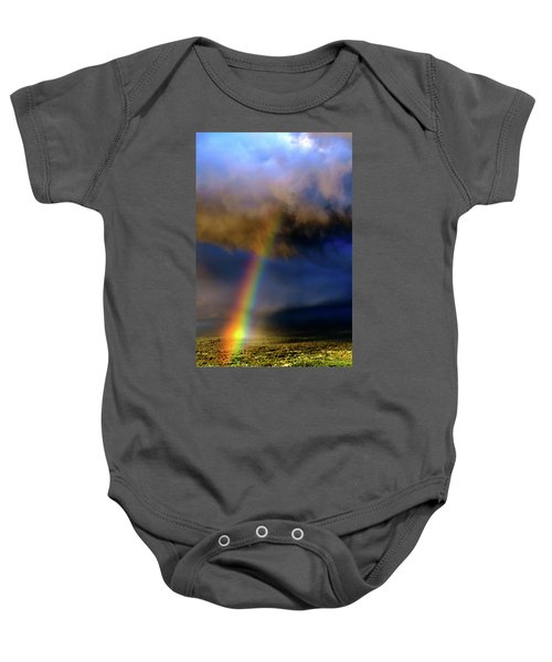 Rainbow During Sunset Baby Onesie