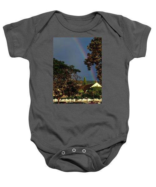 Rainbow Ended At The Church Baby Onesie