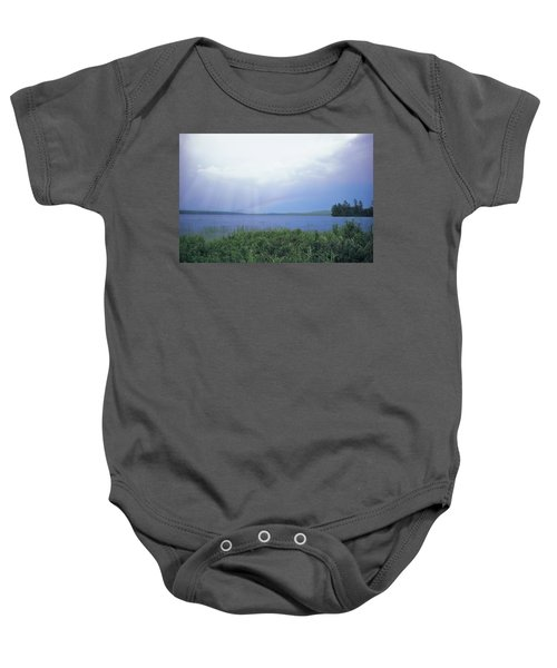 Rainbow Over Raquette Lake Baby Onesie