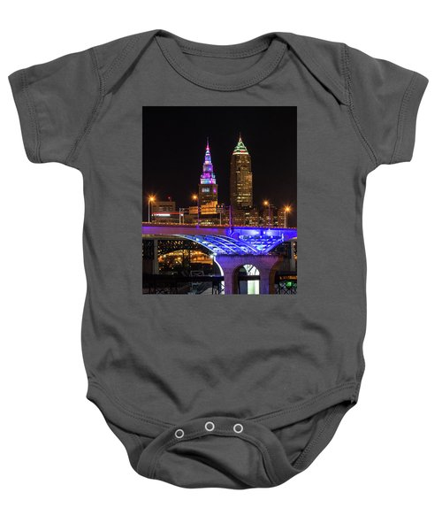 Rainbow Tower In Cleveland Baby Onesie