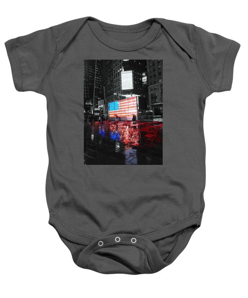 Rainy Days In Time Square  Baby Onesie