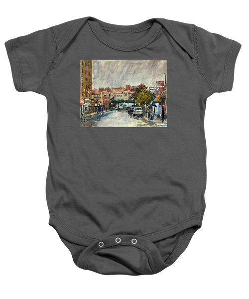 Rainy Morning 231st Street The Bronx Baby Onesie