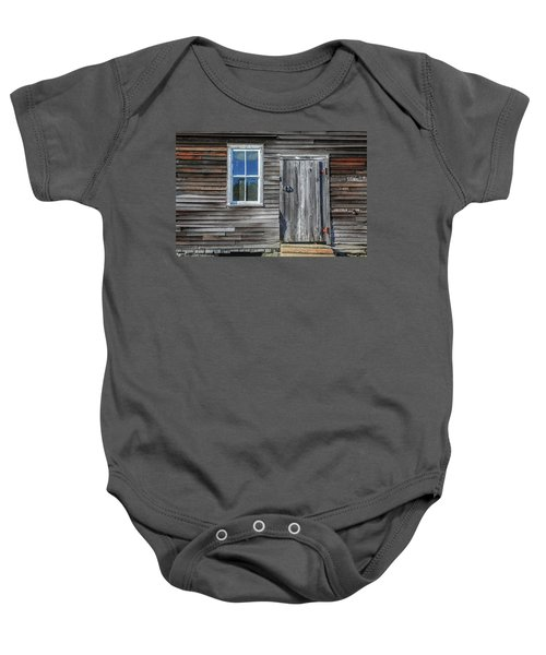 Rear Barn Door Baby Onesie