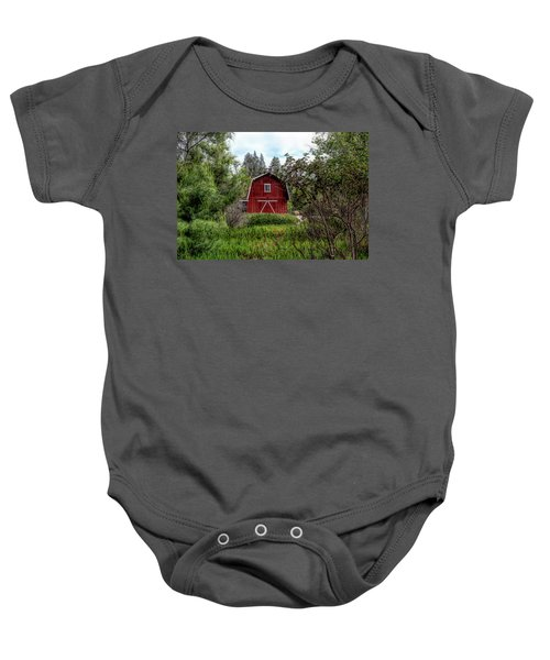 Red House Over Yonder Baby Onesie