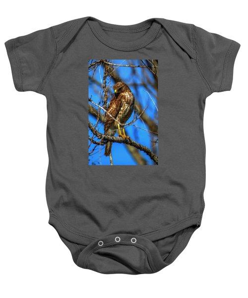 Red Shouldered Hawk Baby Onesie