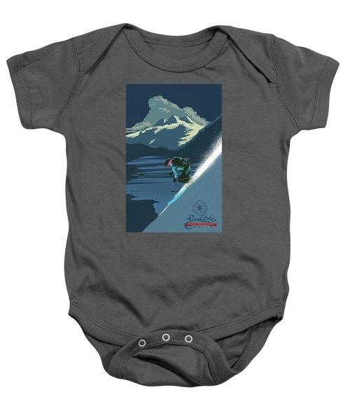 Retro Revelstoke Ski Poster Baby Onesie