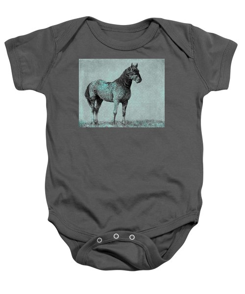 Baby Onesie featuring the photograph Rhapsody In Blue by Mary Hone
