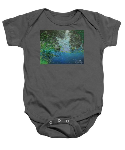 River ...ripples And Reeds Baby Onesie