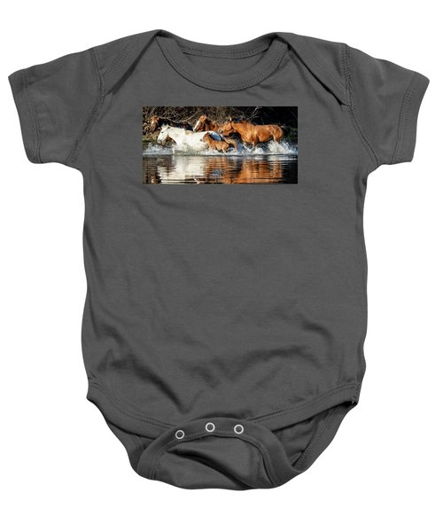 Baby Onesie featuring the photograph River Run by Mary Hone