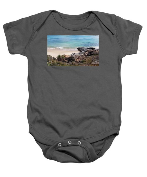 Rocks Sand And Water  Baby Onesie