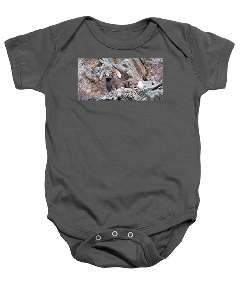 Rocky Mountain Big Horn Ram On Watch Baby Onesie