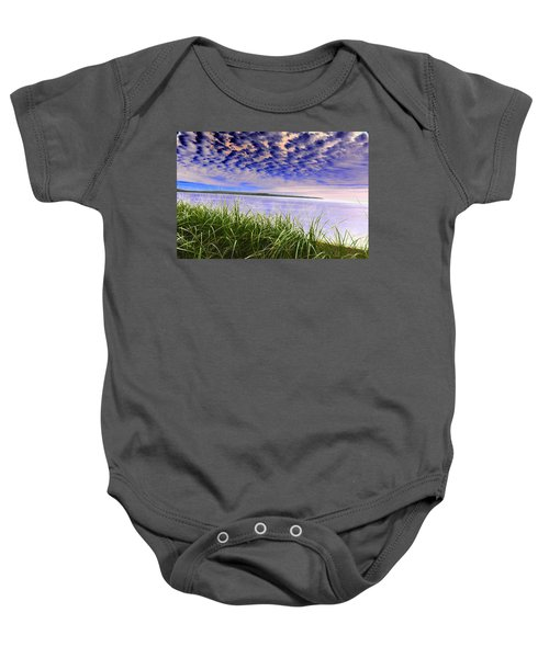 Rolling Blue Sky Over Lake Superior Baby Onesie