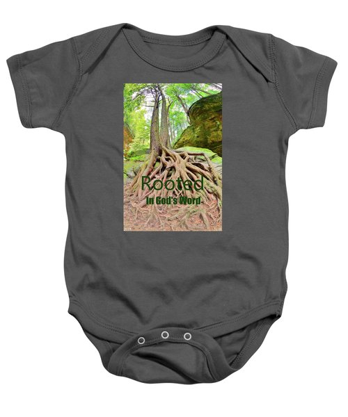 Rooted In God's Word Baby Onesie
